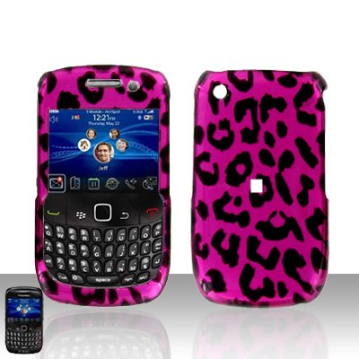 Blackberry Curve 8520 8530 Pink Leopard Cover Case Snap on Protector