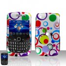 Blackberry Curve 8520 8530 Colorful Dots Cover Case Snap on Protector