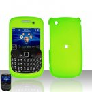 Blackberry Curve 8520 8530 Neon Green Cover Case Snap on Protector
