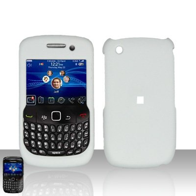 Blackberry Curve 8520 8530 White Cover Case Snap on Protector