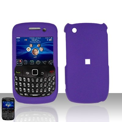 Blackberry Curve 8520 8530 Purple Cover Case Snap on Protector