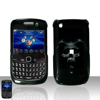 Blackberry Curve 8520 8530 Hooded Skull Cover Case Snap on Protector
