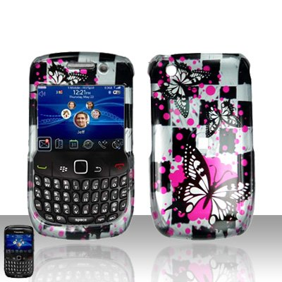 Blackberry Curve 8520 8530 Butterflies Design Cover Case Snap on Protector