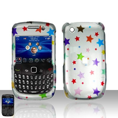 Blackberry Curve 8520 8530 Colorful Stars Cover Case Snap on Protector