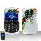 Blackberry Curve 8520 8530 Colorful Design Cover Case Snap on Protector