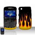 Blackberry Curve 8520 8530 Flames Design Cover Case Snap on Protector