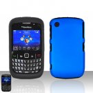 Blackberry Curve 8520 8530 Blue Double Protector Cover Case Silicone + Hard Snap on