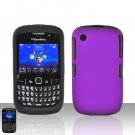 Blackberry Curve 8520 8530 Purple Double Protector Cover Case Silicone + Hard Snap on