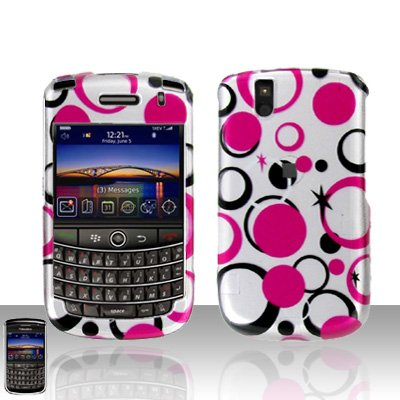 Blackberry Tour 9630 Pink Dots Cover Case Snap on Protector