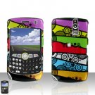 BLACKBERRY CURVE 8350i 8350 Colorful Stripes Case Cover Snap on Protector
