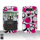 Blackberry Curve 8900 Javelin Pink Dots Cover Case Hard Case Snap on Protector