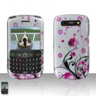 Blackberry Curve 8900 Javelin Pink Flowers Cover Case Hard Case Snap on Protector