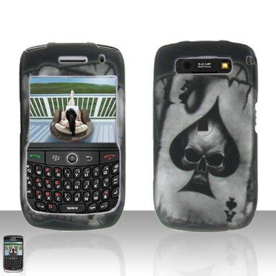 Blackberry Curve 8900 Javelin Spade Skull Cover Case Hard Case Snap on Protector