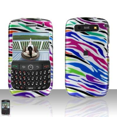 Blackberry Curve 8900 Javelin Rainbow Zebra Cover Case Hard Case Snap on Protector