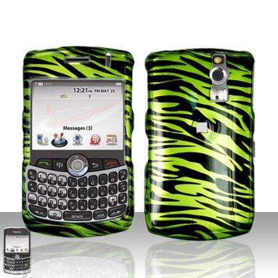 Blackberry Curve 8330 8300 Green Zebra Hard Snap on Case Cover