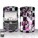 Blackberry Curve 8330 8300 Butterflies Design Hard Snap on Case Cover