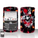 Blackberry Curve 8330 8300 Clown Skull Hard Snap on Case Cover