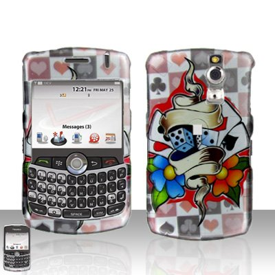 Blackberry Curve 8330 8300 Dice Poker Cards Hard Snap on Case Cover