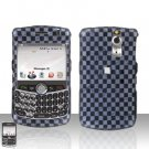 Blackberry Curve 8330 8300 Grey Checkered Hard Snap on Case Cover