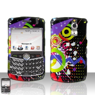 Blackberry Curve 8330 8300 Colorful Music Hard Snap on Case Cover