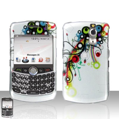 Blackberry Curve 8330 8300 Colorful Design Hard Snap on Case Cover