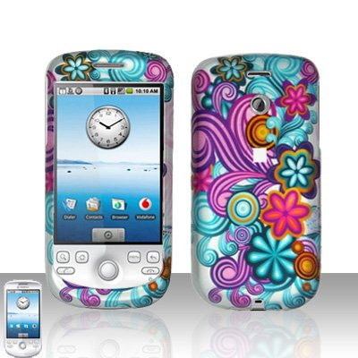 HTC G2 MyTouch 3G Coloful Flowers Cover Case Snap on Protector