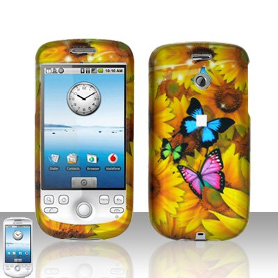 HTC G2 MyTouch 3G Yellow Flowers Cover Case Snap on Protector