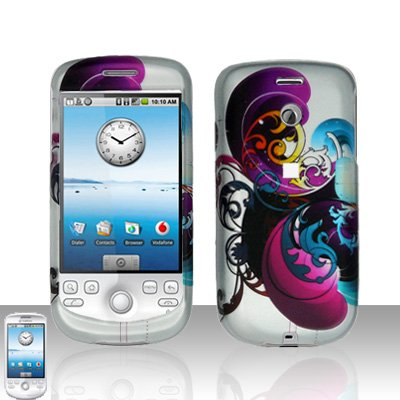 HTC G2 MyTouch 3G Purple Swirl Cover Case Snap on Protector