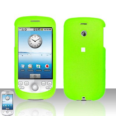 HTC G2 MyTouch 3G Neon Green Cover Case Snap on Protector