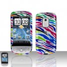 HTC Hero CDMA Rainbow Zebra Case Cover Snap on Protector + Car Charger