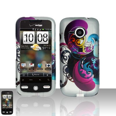 HTC Droid Eris S6200 Purple Swirl Case Cover Snap on Protector