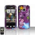 HTC Droid Eris S6200 Purple Design Case Cover Snap on Protector