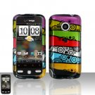 HTC Droid Eris S6200 Colorful Stripes Case Cover Snap on Protector