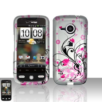 HTC Droid Eris S6200 Pink Flowers Case Cover Snap on Protector