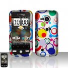 HTC Droid Eris S6200 Colorful Dots Case Cover Snap on Protector