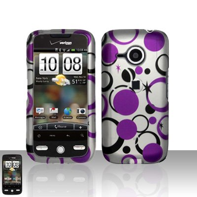 HTC Droid Eris S6200 Purple Dots Case Cover Snap on Protector