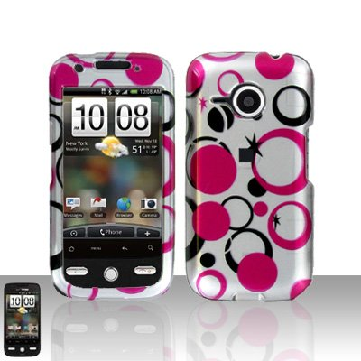 HTC Droid Eris S6200 Pink Dots Case Cover Snap on Protector