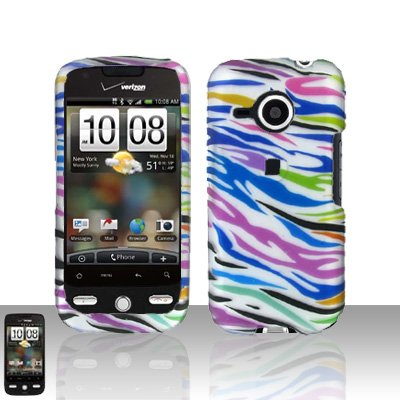 HTC Droid Eris S6200 Rainbow Zebra Case Cover Snap on Protector