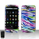 HTC Google Nexus One Rainbow Zebra Case Cover Snap on Protector