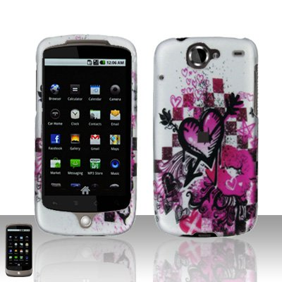 HTC Google Nexus One Arrow Heart Case Cover Snap on Protector