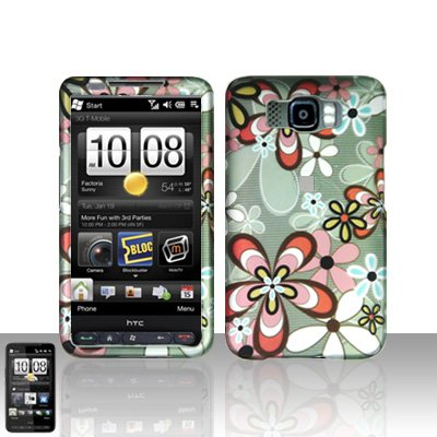 HTC Leo HD2 Flower Design Case Cover Snap on Protector
