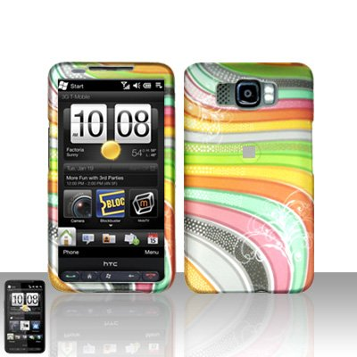 HTC Leo HD2 Rainbow Stripes Case Cover Snap on Protector