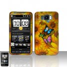 HTC Leo HD2 Yellow Flowers Case Cover Snap on Protector