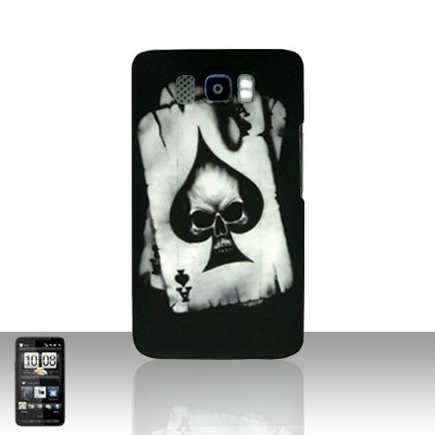 HTC Leo HD2 Spade Skull Back Case Cover Hard Protector