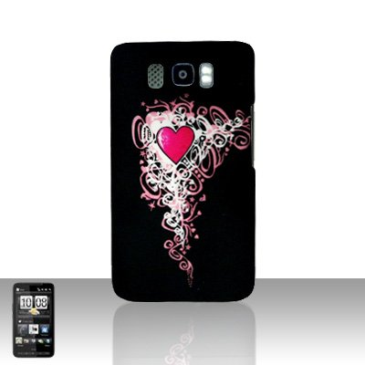 HTC Leo HD2 Heart Back Case Cover Hard Protector