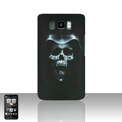 HTC Leo HD2 Hooded Skull Back Case Cover Hard Protector