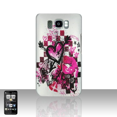 HTC Leo HD2 Arrow Heart Back Case Cover Hard Protector