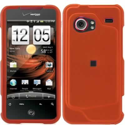 HTC Droid Incredible 6300 Orange Case Cover Snap on Protector
