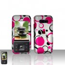 Kyocera Laylo M1400 Pink Dots Case Cover Snap on Protector