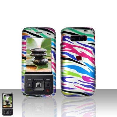 Kyocera Laylo M1400 Rainbow Zebra Case Cover Snap on Protector